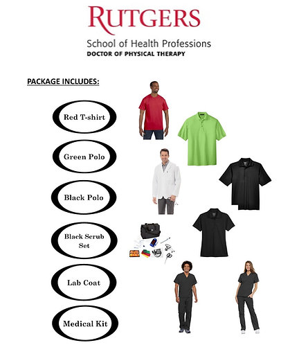 Rutgers SHP - Doctor of Physical Therapy Package (Regular Sizing XXS-XL)