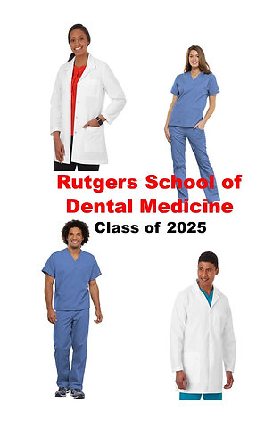 Rutgers School of Dental Medicine Uniform Package Class of 2025- Extended Sizing