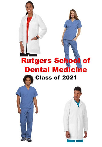 Rutgers School of Dental Medicine Uniform Package Class of 2021- Extended Sizing