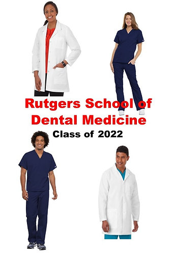 Rutgers School of Dental Medicine Uniform Package Class of 2022-Extended Sizing