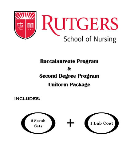 Rutgers School of Nursing Uniform Package (Regular Sizing XXS-XL)