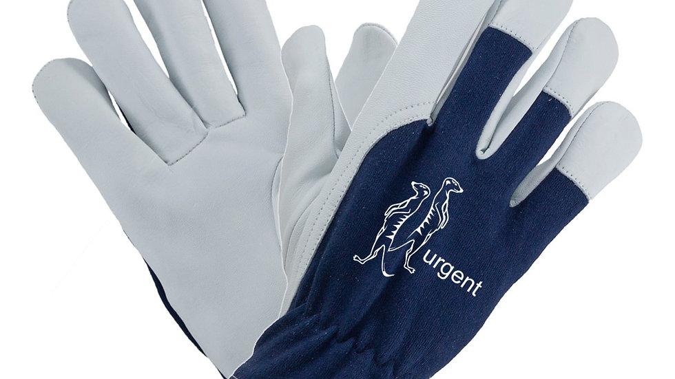 Rękawice robocze kozia skóra niebieskie