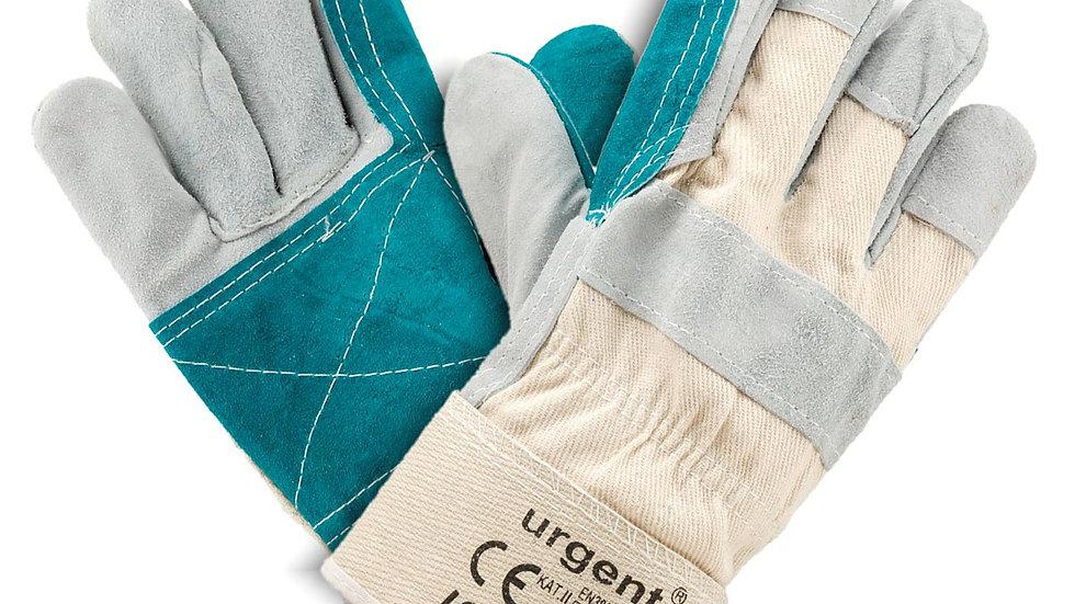Rękawice ochronne skórzane białe