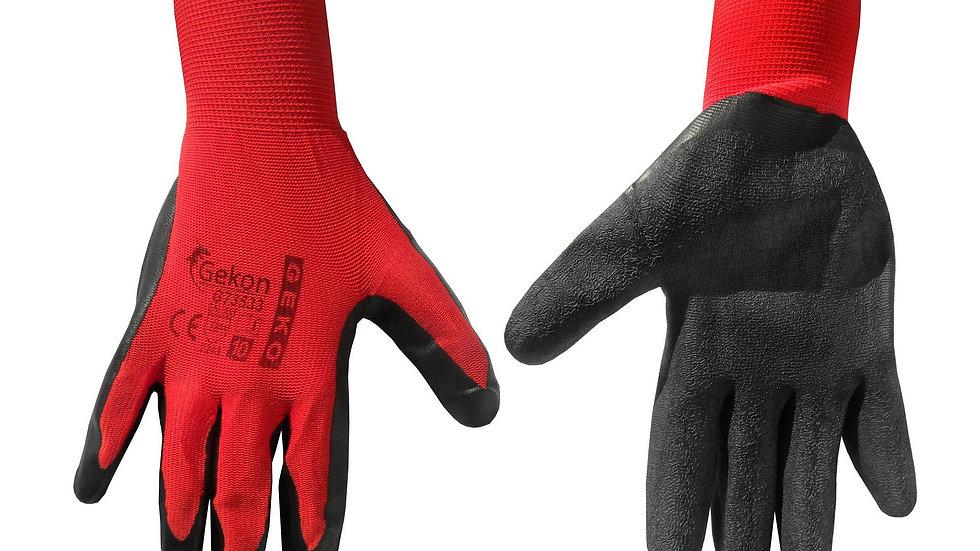 Rękawice ochronne czerwono - czarne
