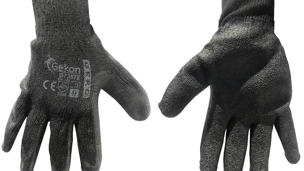 Rękawice ochronne grube czarne rozmiar 9