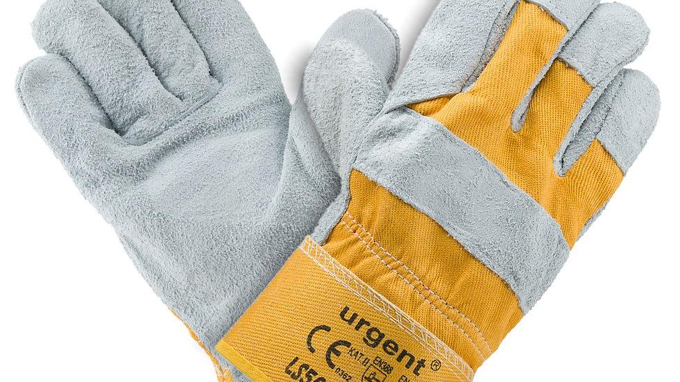 Rękawice ochronne skórzane zółte Urgent