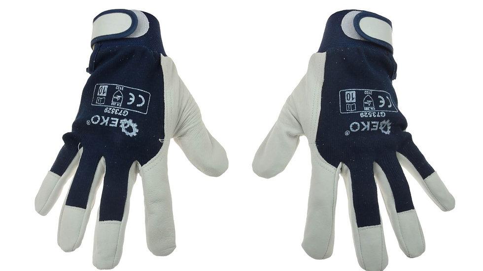 Rękawice ochronne monterskie skórzane