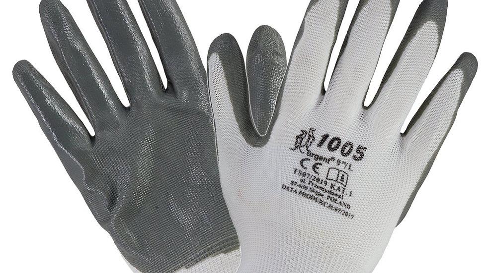 Rękawice robocze pokryte nitrylem