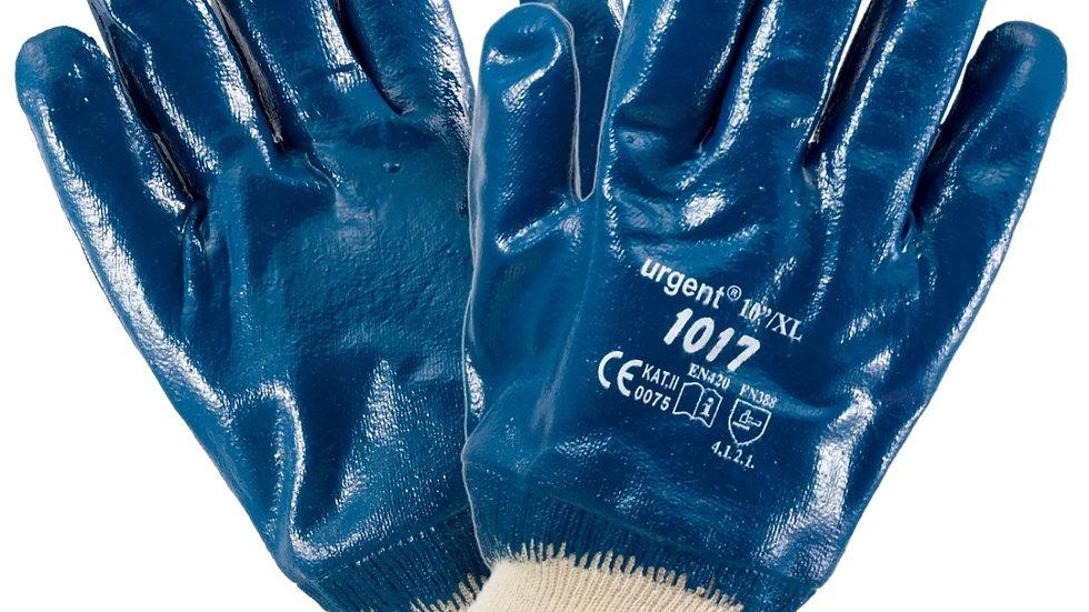 Rękawice skórzane nitrylowe niebieskie