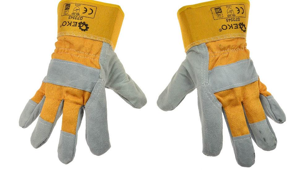 Rękawice ochronne skórzane żółte