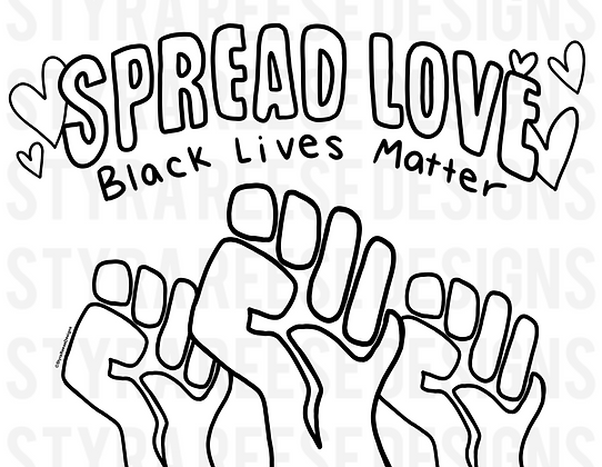 BLACK LIVES MATTER coloring sheet