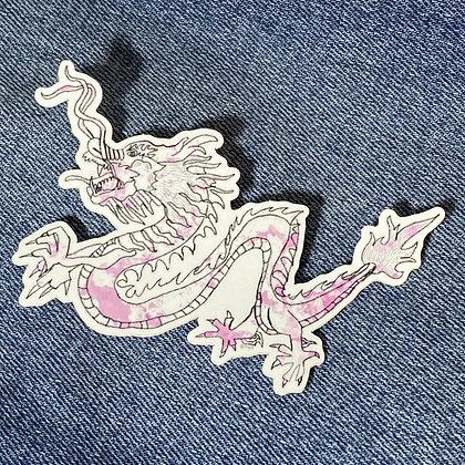 tie dye dragon sticker