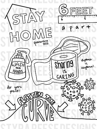 color out COVID-19 activity pack