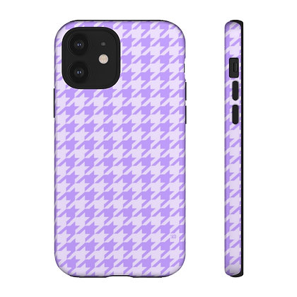 Purple Houndstooth Phone Case