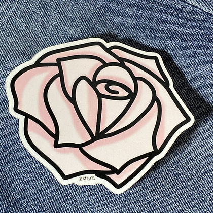 pale rose sticker
