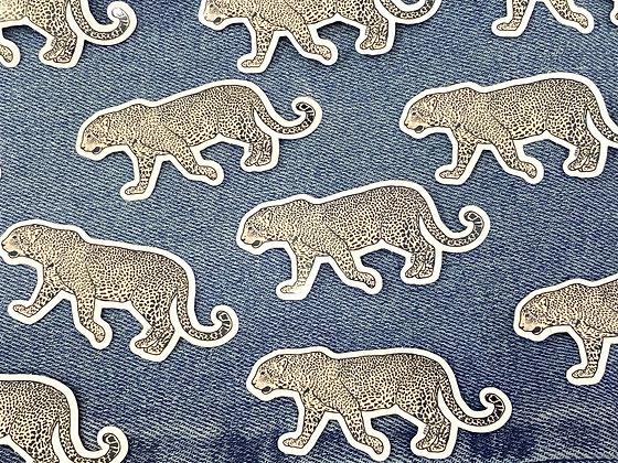 mini leopard sticker