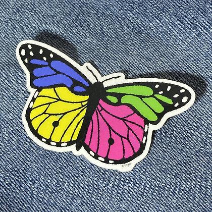 colorblock butterfly sticker