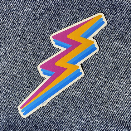 electric bolt sticker