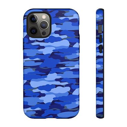 Blue Camo Phone Case