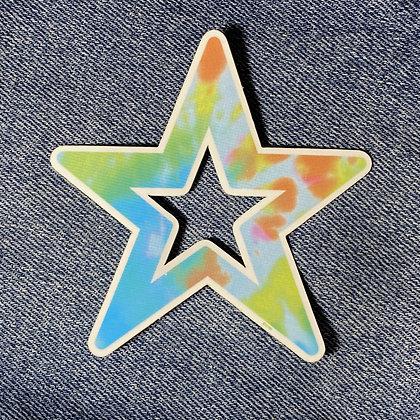 star tie dye burst sticker