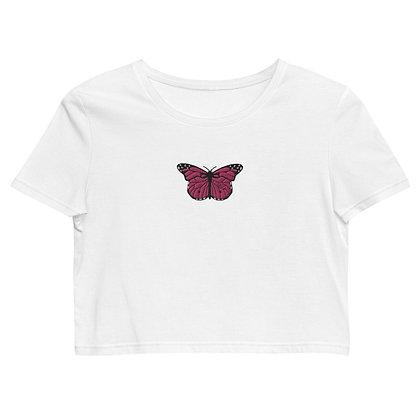 Pink Monarch Crop Top
