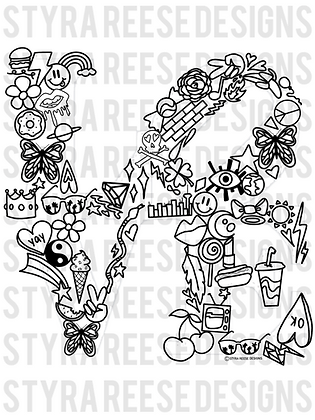 icon love coloring sheet