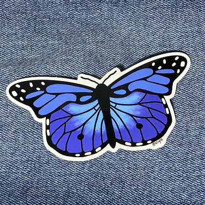 blue monarch sticker