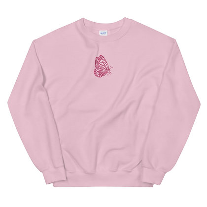 Butterfly Outlined Crew Neck