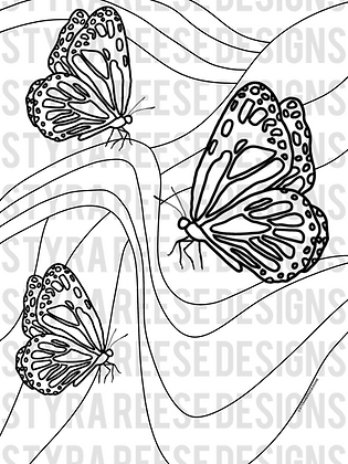 butterfly kingdom coloring sheet