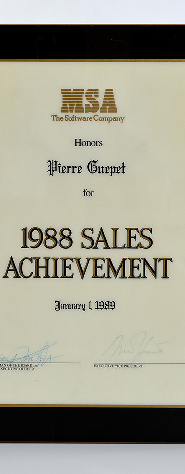 Récompense MSA 1988