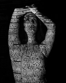 Model - Ffion Saunders Projection Photography