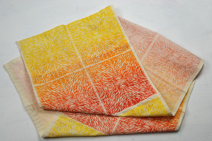 Printed design based on sand patterns using colours inspired by the current colour trends.