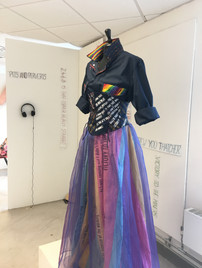 Full display of the FMP drag costume.
