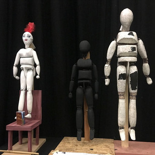 Bunraku Puppets from our show.