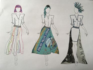 Original Designs for my FMP of a drag costume.
