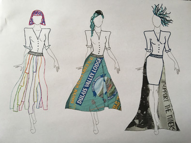 Original Designs for my FMP of a drag costume.