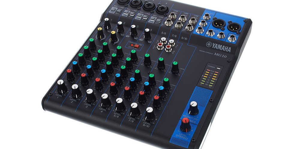 Yamaha MG10, 10-channel analog mixer
