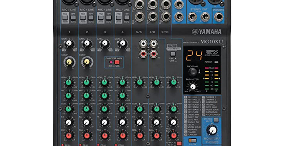 Yamaha MG10XU, 10 channel mixer with USB and FX
