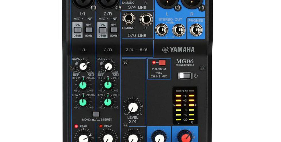 Yamaha MG06, 6-channel analog mixer