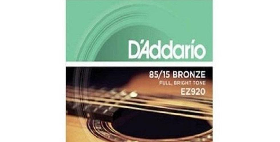 D'ADDARIO EZ 920 Acoustic Guitar String set