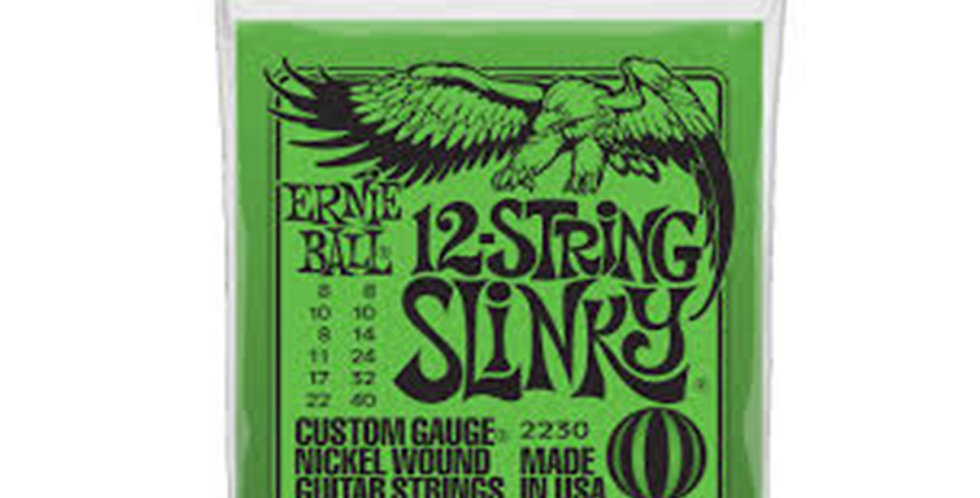 Ernie Ball 2230 Slinky 12-String Nickle Wound Electric Guitar String Set 8-40