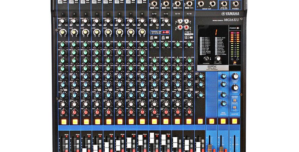 Yamaha MG16XU, 16 channel 6 aux analog mixer