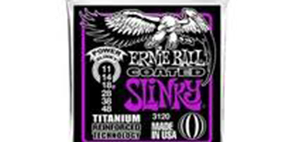 Ernie Ball 3120 Coated Titanium Power ELECTRIC GUITAR STRINGS - 11-48