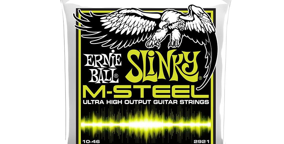 Ernie Ball 2921 REGULAR SLINKY M-STEEL ELECTRIC GUITAR STRINGS - 10-46 GAUGE
