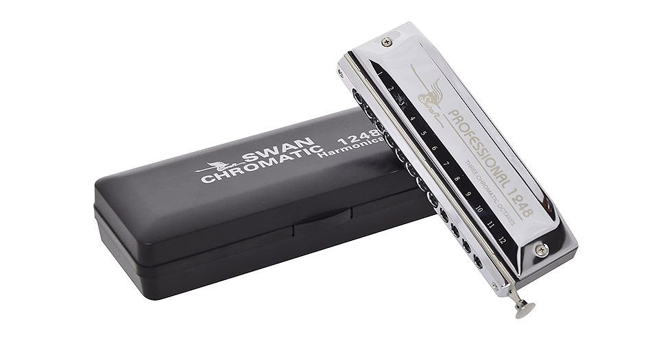 SWAN SW1248-6 Chromatic scale-changer Harmonica Key of C