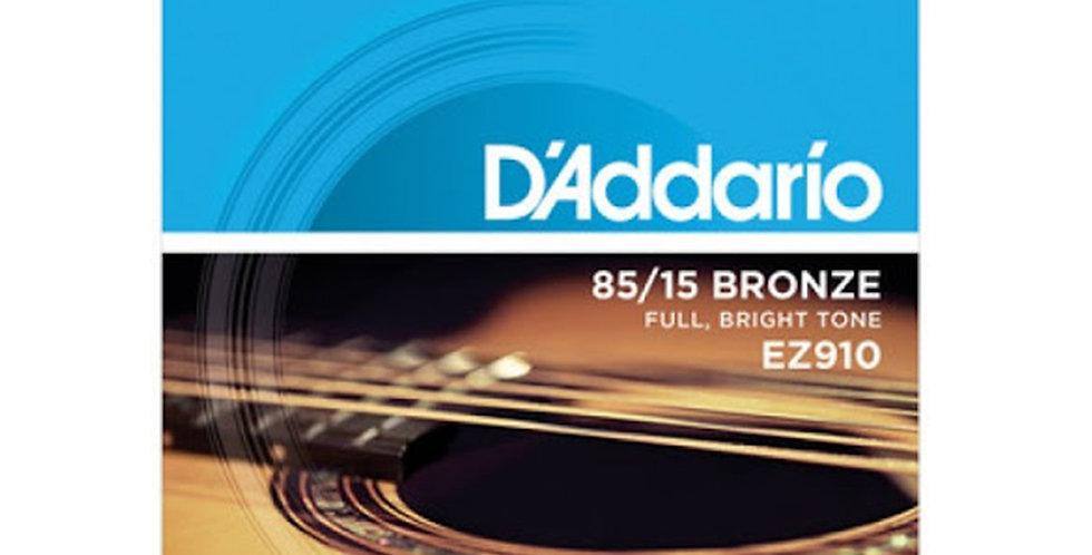 D'ADDARIO EZ910 Acoustic Guitar String set
