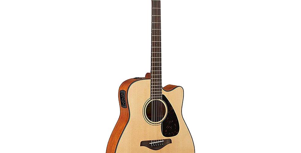 YAMAHA FGX800C Semi Acoustic Guitar Natural