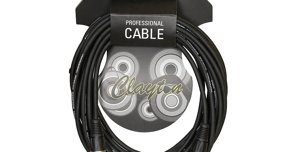 Clayton XLR male-XLR female Cables 10m