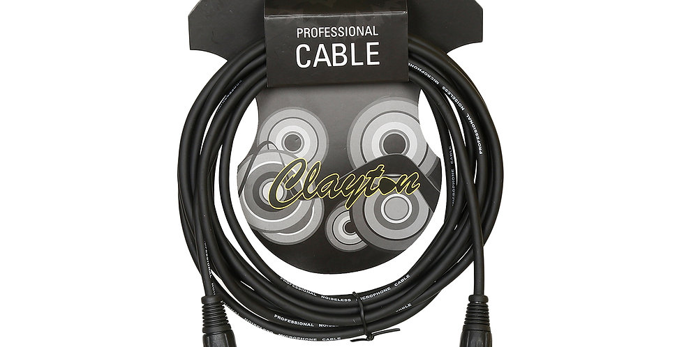 Clayton XLR male-XLR female 5m cable