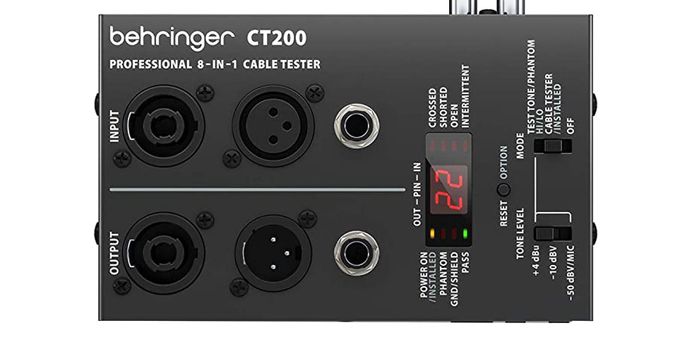 Behringer CT200 8-in-1 Cable Tester